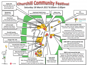 festival map with the lot